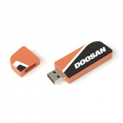 Clé USB caoutchout orange DOOSAN - 4GB